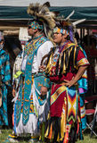 Native American Dancers at a Pow-Wow Stock Photos