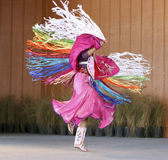 Native American Dancing. A Native American woman doing a tribal dance stock images
