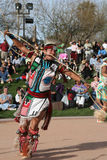 Native American dancing in costume Royalty Free Stock Image