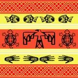 Native American design. Wallpaper with animal symbols royalty free illustration