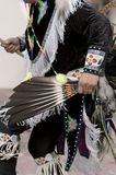 Native american dress. Worn by an dancer at an event royalty free stock image