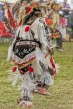 Native American dressed in full Regalia dancing Stock Photos