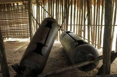 Native American drums in Peruvian Amazonas Stock Photo