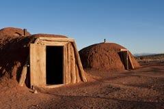 Native American dwelling. Native American dwelling in the desert of Arizona under a blue sky Stock Photos