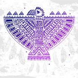 Native American eagle illustration Royalty Free Stock Images
