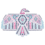 Native American eagle illustration Royalty Free Stock Image