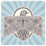 Native American eagle illustration Stock Photography