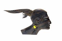 Native American ebony mask isolated Stock Photos