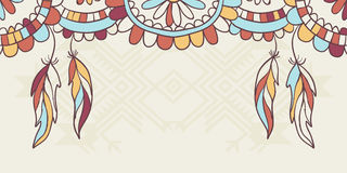Native American elements Royalty Free Stock Images