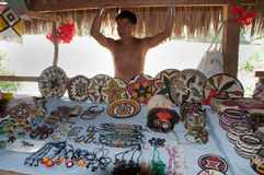 Native American from Embera Tusipono Tribe, Panama Stock Photo