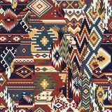 Native American fabric patchwork wallpaper Stock Photography