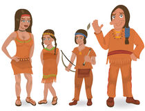 Native American family Royalty Free Stock Photo