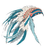 Native American feathered headdress. Vector illustration