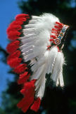 Native American Feathered War Bonnet Stock Image