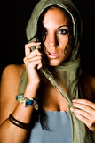 Native american female fashion model Royalty Free Stock Photography
