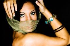 Native american female fashion model Stock Photography