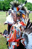 A native American in full Indian regala stock image