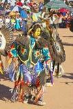 Native American in full regalia dancing at Pow wow Stock Image