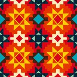 Native american geometric pattern Stock Images