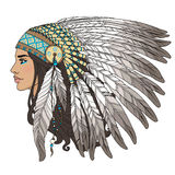 Native american girl Royalty Free Stock Photography