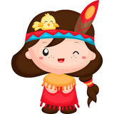The Native American Girl. A vector of native american girl Stock Photography