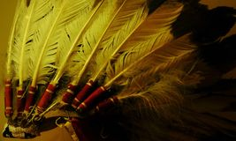 Native American Headdress. In Colorado royalty free stock photo