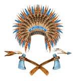 Native American Headdresses Royalty Free Stock Photos