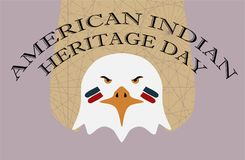 Native American Heritage Day. Eagle with Face Paint Royalty Free Stock Photo