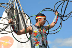 Native American Hoop Dancer Royalty Free Stock Photography