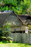 Native American houses of straw in Amazonia Stock Images