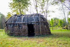 Native American Hut stock image