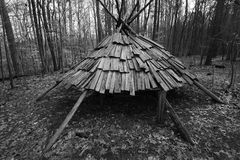 Native American Hut in Park Royalty Free Stock Images