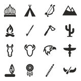 Native American Icons Royalty Free Stock Photo
