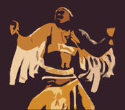 Native American Indian. A fully scalable vector illustration of a Native American Indian Stock Photo