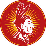 Native American indian chief Stock Photo