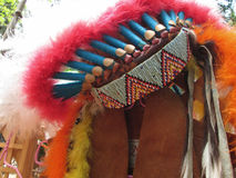 Native american indian chief headdress Stock Photos