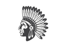 Free Native American Indian Chief Headdress Royalty Free Stock Image - 56344506