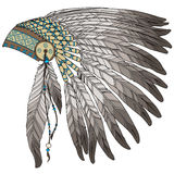 Native American Indian chief headress Royalty Free Stock Images