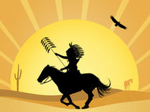 Native american Indian in the desert Royalty Free Stock Image