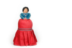 Native American Indian Doll - Navajo. A handmade Native American Indian doll - circa 1965 - on white background Stock Images