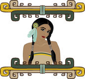 Native American Indian girl Royalty Free Stock Images