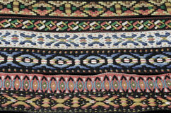 Native American Indian Headband Fabric Textures with Muted Colors Royalty Free Stock Photo