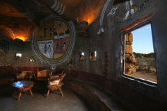 Native american indian interior. Classical native american indian interior, Arizona area, USA stock image