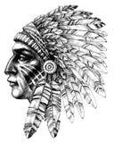 Native american indian profile