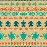 Native American Indian seamless pattern ethnic traditional geometric art with retro vintage design elements and arrows Aztec Inca Stock Photography