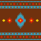 Native American Indian seamless pattern ethnic traditional geometric art with retro vintage design elements Aztec Inca Navajo Royalty Free Stock Photos