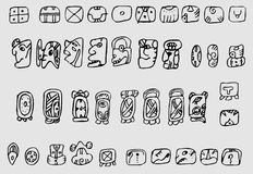 Native American Indian symbols Stock Image