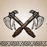 Native American Indian tomahawks Stock Images