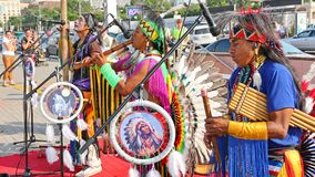 Native American Indian tribal group Stock Photography