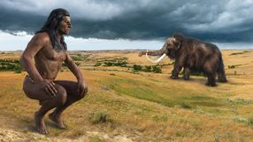 Free Native American Indian, Woolly Mammoth Royalty Free Stock Photos - 166343828